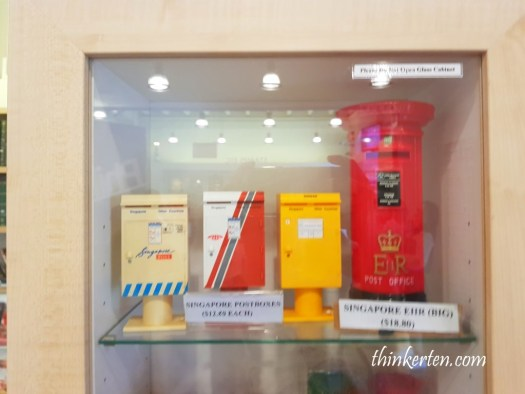 Mini coin post box Singapore Philatelic Museum