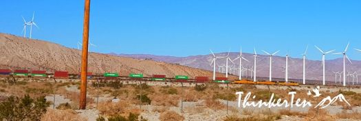Container train at Palm Springs California
