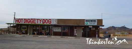 Hot Diggety Dog at Dolan Springs Arizona
