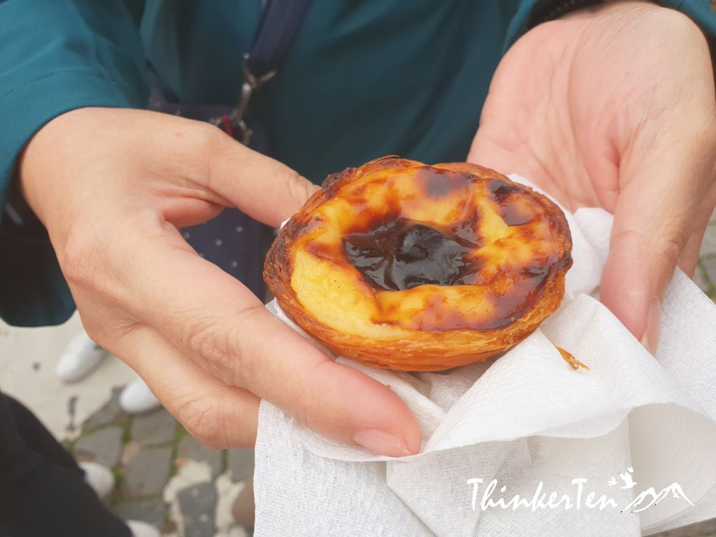 The most famous Portuguese egg tarts in Lisbon Portugal - Pastéis de Belém