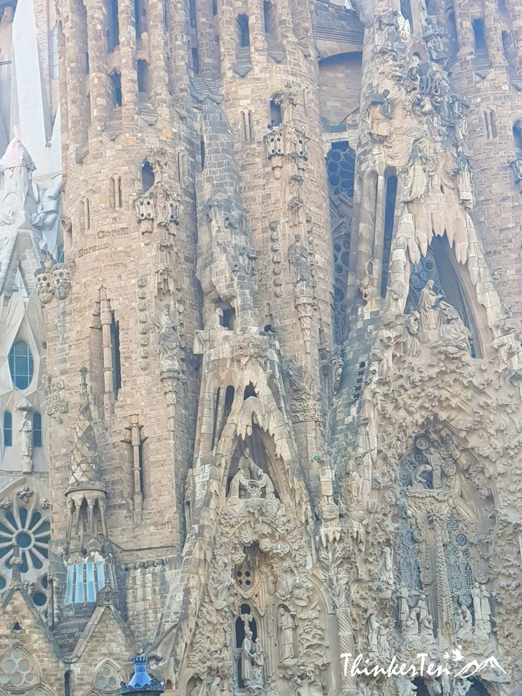"Sagrada Familia - The unfinished church by ""God Achitect""-Antonti Gaudi at Barcelona, Spain"