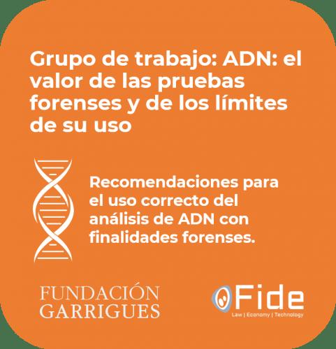 Bericht der DNA-Arbeitsgruppe Fide Garrigues Empfehlungen für die korrekte Verwendung der DNA-Analyse für forensische Zwecke