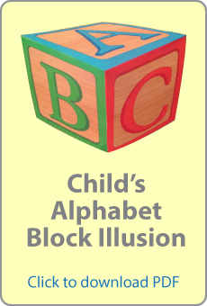 Click to download Alphabet Block Illusion