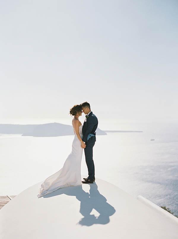 Romantic Blush & Copper Wedding - santorini wedding planner