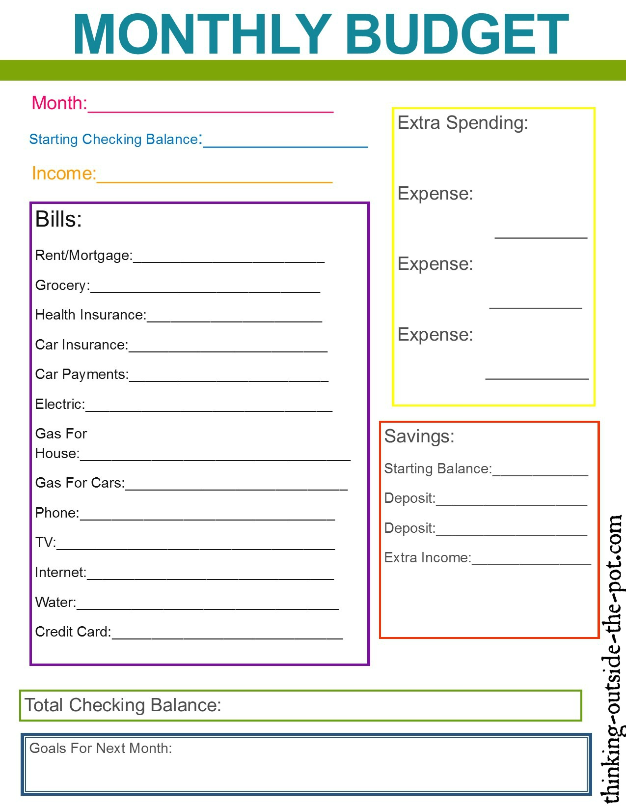 Worksheet Budget Weekly01