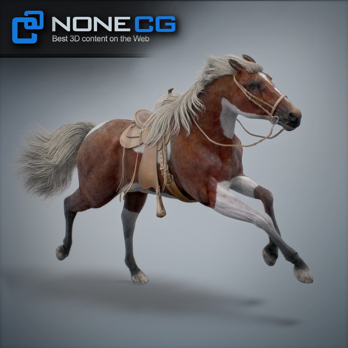 Rigs  Animated Horse 3D Model by NoneCG  Thinking Animation