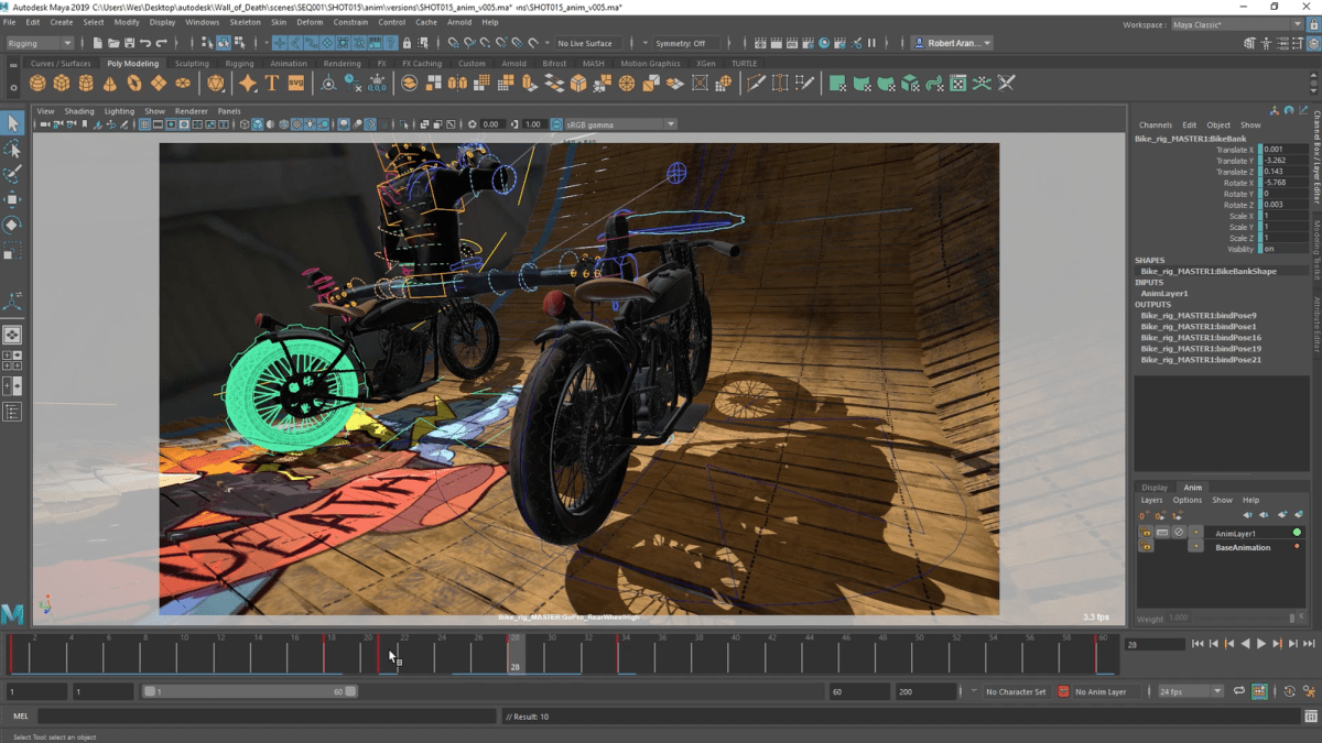 Maya 2019 – Cached Playback for better animation – Thinking