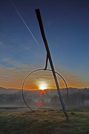 National Botanic Garden of Wales, March 2012. Sun rising at the Echo Spot. Copyright Charles Hawes for thinkingardens