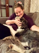 Then Maureen came over Saturday night for some good food, good company, and belly rubs.