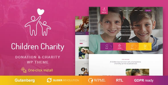 Children Charity 111 Nonprofit NGO WordPress Theme