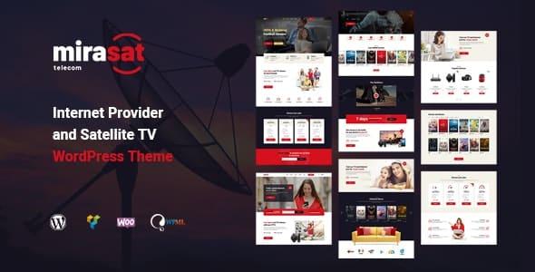 Mirasat 108 Internet Provider and Satellite TV WordPress Theme