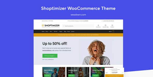 Shoptimizer 225 The Fastest WooCommerce Theme Free Download