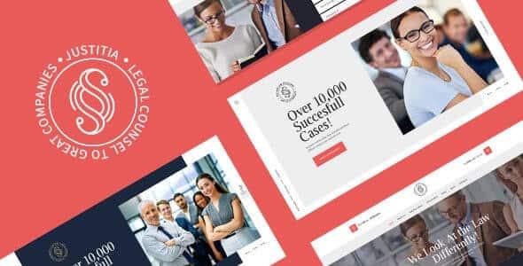 Justitia 104 Multiskin Lawyer Legal Adviser WordPress Theme