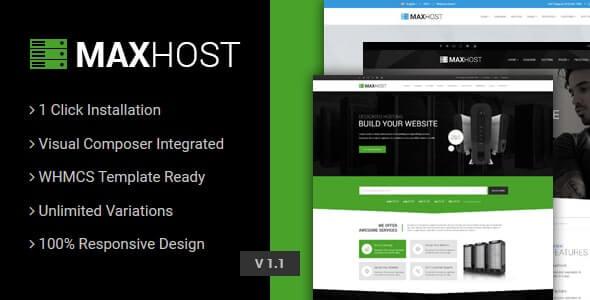 MaxHost 70 Web Hosting WHMCS and Corporate Business WordPress