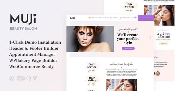 Muji 11 Beauty Shop Spa Salon WordPress Theme