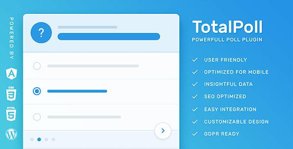 TotalPoll Pro 431 Nulled Responsive WordPress Poll Plugin