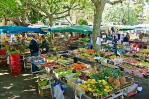 Saturday market in Beaulieu