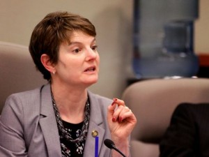 State Senator Elizabeth Steiner-Hayward of Oregon, sponsor of vaccine legislation