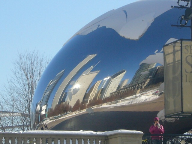 Anish Kapoor's Cloud Gate sculpture (more commonly known as The Bean), Millenium Park, Chicago