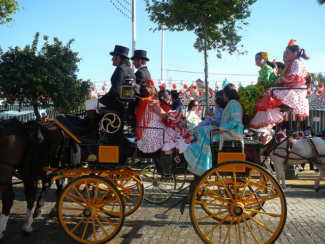 Chariot during Seville's April Fair (photo by Julia Folsom)