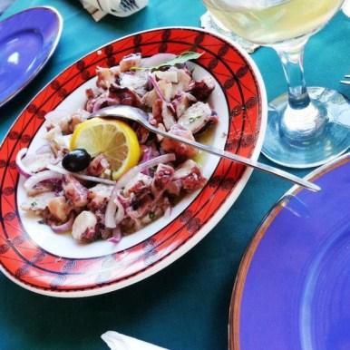 Octopus salad - Tribunj, Croatia