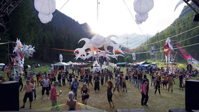 A goa party in Switzerland