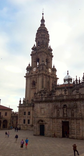 One of the many views of the Cathedral of Santiago de Compostela