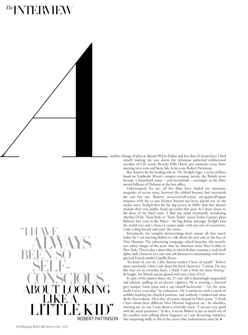 *Scans* Robert Pattinson in Harper's Bazaar