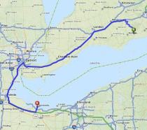 Just a hop, skip and a jump from home to Bloggy Con! www.mapquest.com