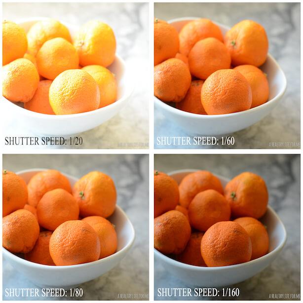 4 Tips for Taking Better Food Photos; Camera Settings - SHUTTER SPEED