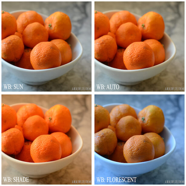4 Tips for Taking Better Food Photos; Camera Settings - WHITE BALANCE