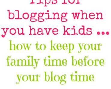 blog time w/ kids