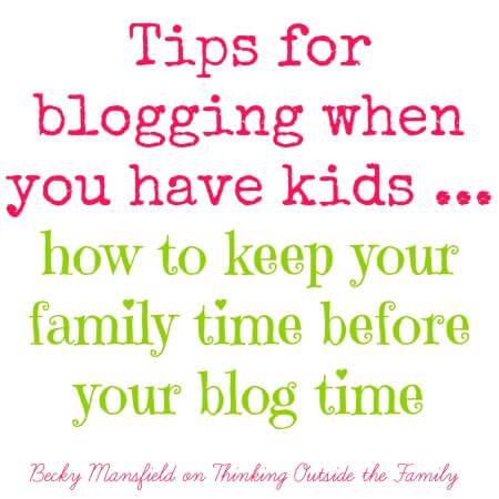 blog time w/ kids