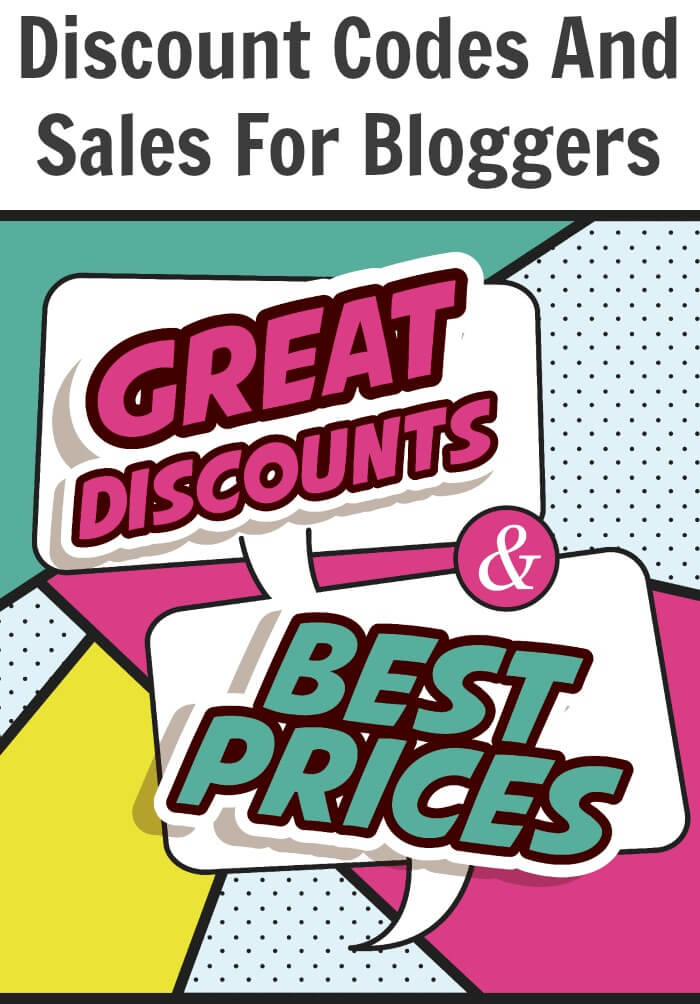 Discount Codes And Sale For Bloggers