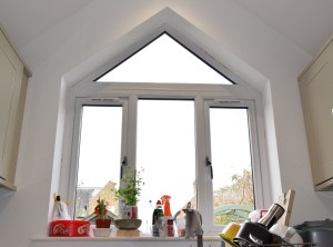 Kitchen window in Bowdon family home.