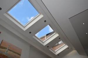 Image of ceiling in Altrincham house. Photo by Altrincham architect Mark Burgess.