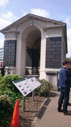 The Merchant Navy Memorial in Tower Hill.