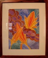 """""""Wild Wheat & Amaranth"""" Claire Coté, watercolor on paper"""