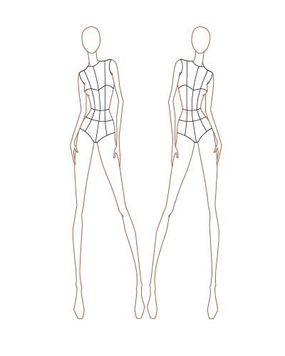 Fashion Sketch Templates thinkitpink