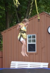 Clara jumped