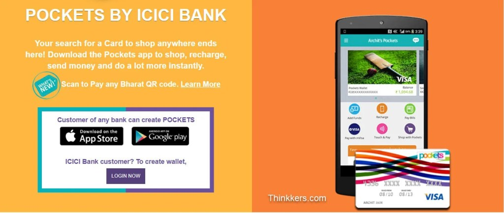 ICICI virtual card