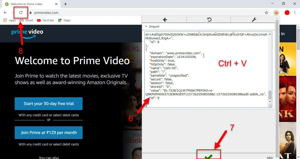 working amazon prime cookies for pc