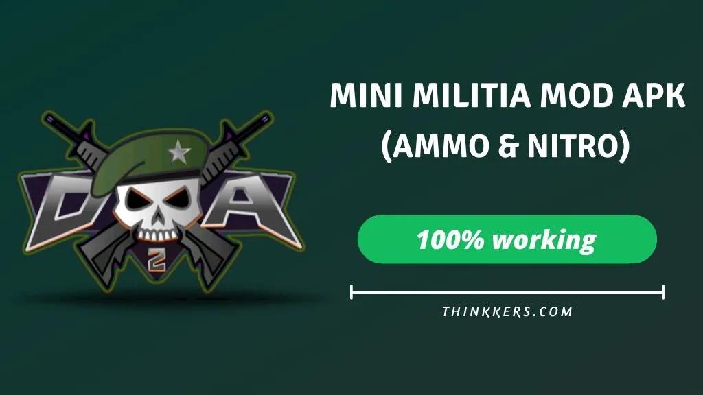 mini militia unlimited ammo and nitro mod apk