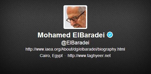 @ElBaradei (Mohamed ElBaradei) Twitter