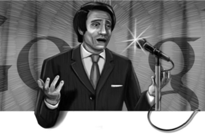 Google celebrates birthday of Abdel Halim Hafez - Screenshot on 21June 2011