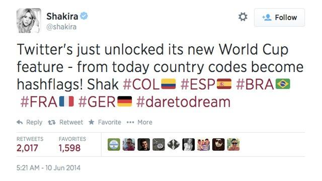 Shakira-Hashflag