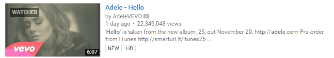 Adele Hello YouTube