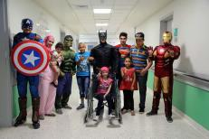 Superheroes in 57357 Children's Cancer Hospital 7