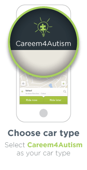 Careem new icon on the Application for the sake of Autism