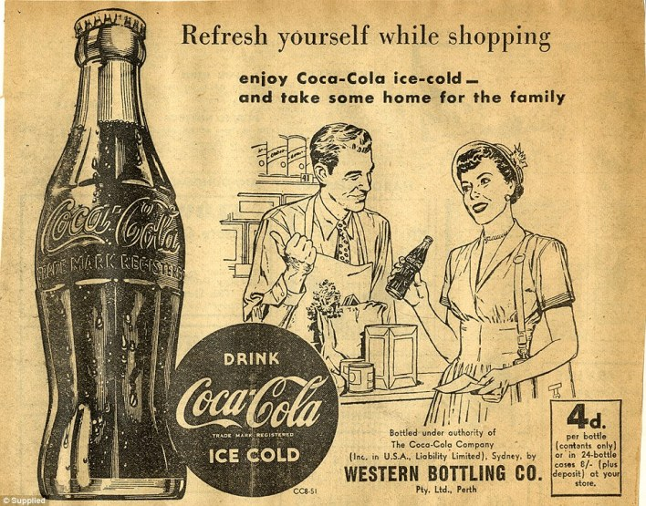 Coca-Cola targeted women in the 1950s with slogans like 'refresh yourself while shopping' and 'take some home for the family